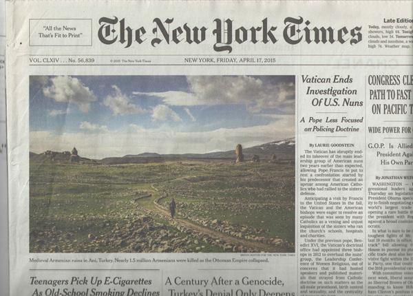 Armanian Genocide NYT 2015 4 17 - Copy.jpg