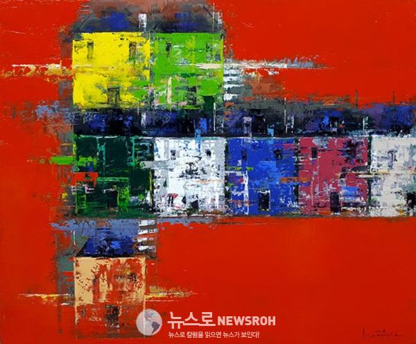 East Side 18-JA01, 2018, 60.6x72.7cm, Oil on canvas.jpg